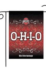 """Ohio State Buckeyes Sparo 13"""" x 18"""" Double-Sided Garden Flag"""