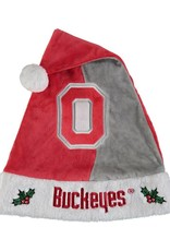 Forever Collectibles Ohio State Buckeyes Scarlet & Gray Santa Hat