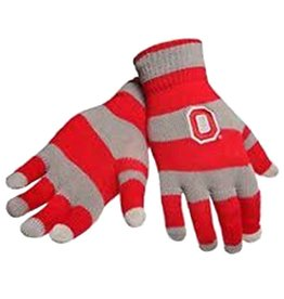 Forever Collectibles Ohio State University Knit Gloves with Texting Tips