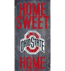 Ohio State Home Sweet Home Wood Sign