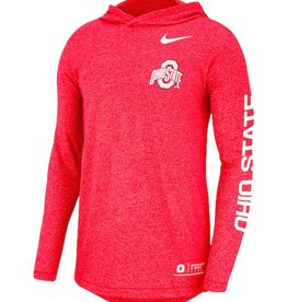 Nike Ohio State Buckeyes Marled Long Sleeve Hooded T-Shirt