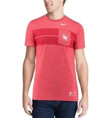 Nike Ohio State Buckeyes Nike Marled Pocket T-Shirt