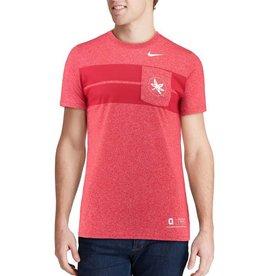 Nike Ohio State Buckeyes Nike Marled Pocket T-Shirt – Scarlet