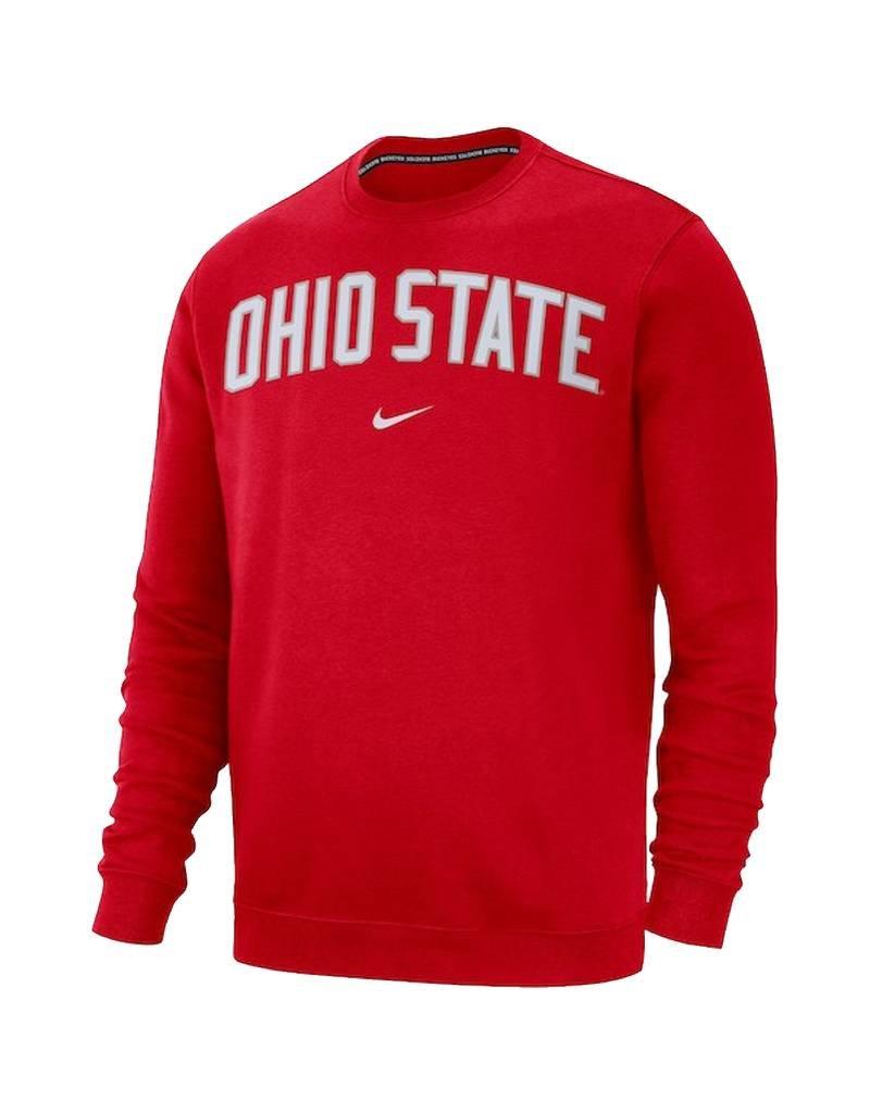 Nike Ohio State Buckeyes Club Fleece Crew Sweatshirt