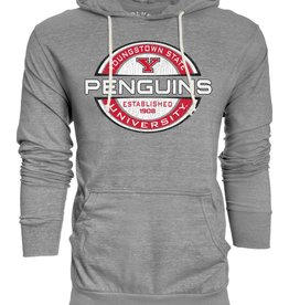 Youngstown State Men's Tri Blend Heather Gray Hoodie