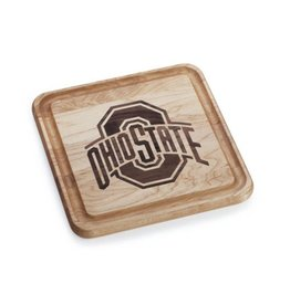 Warther Boards 9x9 Ohio State Maple Athletic O Cutting Board
