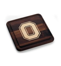 Warther Boards 9x9 Ohio State Walnut Block O Cutting Board