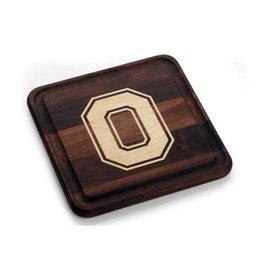 Warther Boards 9x9 Ohio State Walnut Block O Cutting Board