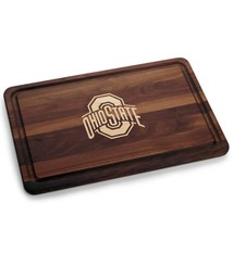 Warther Boards 18x12 Ohio State Walnut Athletic O Cutting Board