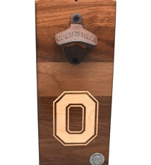 Warther Boards Ohio State Walnut Block O Inlay Bottle Opener