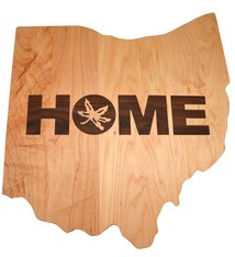 Warther Boards Ohio State Maple Home Inlay Cutting Board