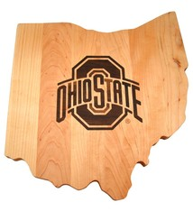 Warther Boards Ohio State Maple Athletic O Inlay Cutting Board