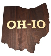 Warther Boards Ohio State Walnut OH-IO Inlay Cutting Board