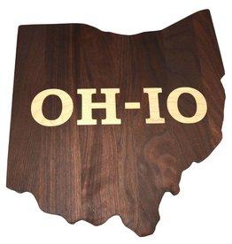 Warther Boards Ohio State Walnut OH-IO Inlay Cutting Board