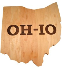 Warther Boards Ohio State Maple OH-IO Inlay Cutting Board