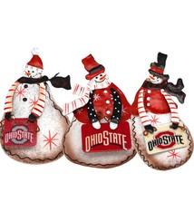 Ohio State University Tin Snowman Ornaments