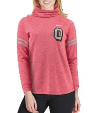 Nike Ohio State Women's Vault Sleeve Striped Funnel Neck Sweatshirt