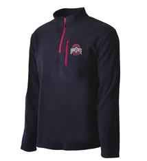 Top of the World Ohio State Buckeyes Black Fleece 1/4-Zip Pullover Jacket