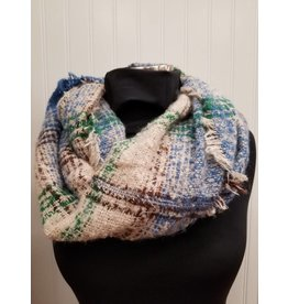 Infinity Scarf Blue Green