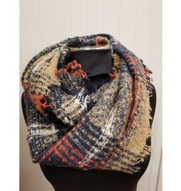 Infinity Scarf Navy Orange