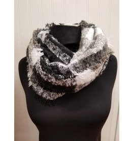 Infinity Scarf Black Grey