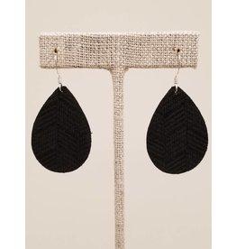 Dainty Earrings Black Chevron
