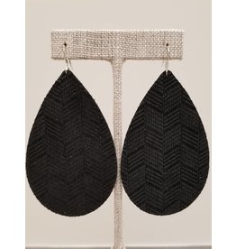 Daring Earring Black Chevron