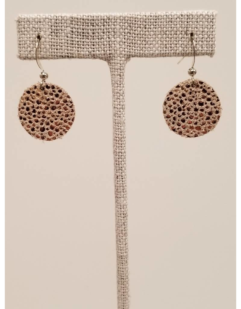 Dew Drop Sparkly Rose Gold Earrings