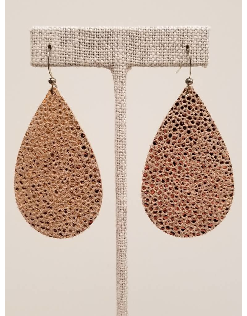 Darling Sparkly Rose Gold Earrings