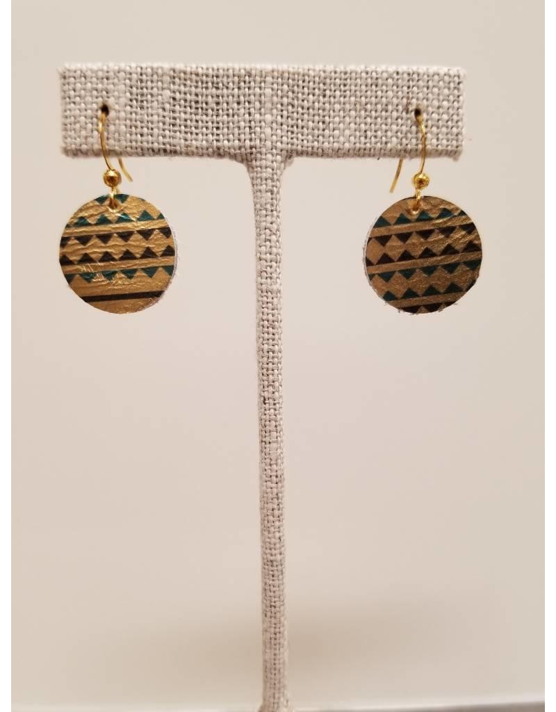 Dew Drop Earrings Gold Tribal