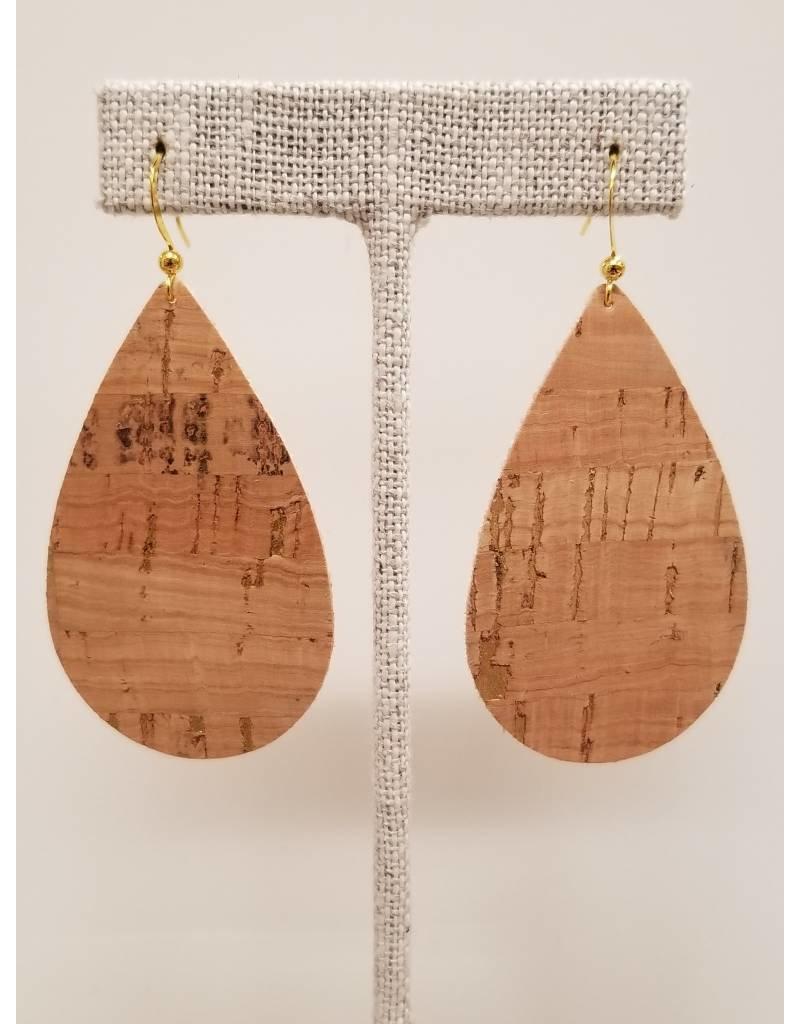 Darling Gold Fleck Cork Earrings