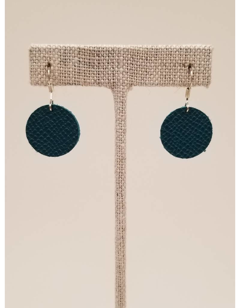 Dew Drops Earrings Saffiano Teal