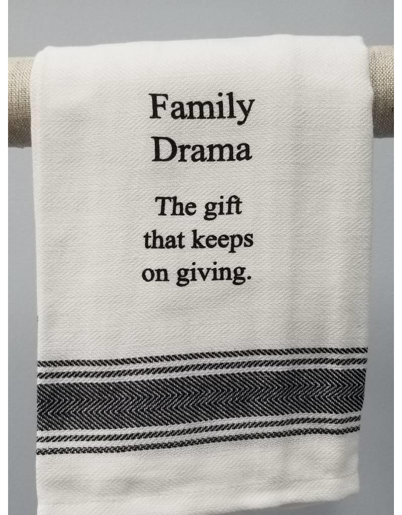 Family Drama Tea Towel