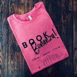 Book Bonanza Pink Volunteer Shirt