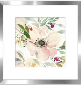 "Cadre Fleurs Pastels # 1 THE JOY OF WHITE II 18"" X 18"""