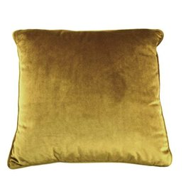 """Coussin velours moutarde 18"""" x 18"""""""