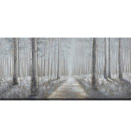 "Toile chemin bordé d'arbre MISTY WOODS 32"" X 72"""