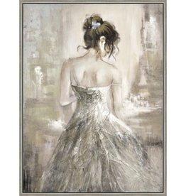 "Toile femme au chignon SHADOW MEMORIES 36"" X 48"""