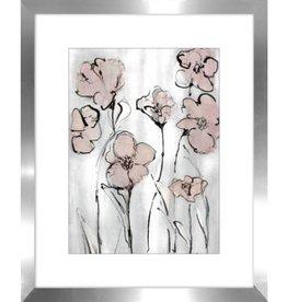 "Cadre fleurs roses #1 WILDFLOWERS I 16"" X 20"""