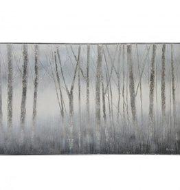 """Toile Juneau arbres bleus 40"""" x 60"""""""
