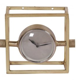 Horloge cube laiton
