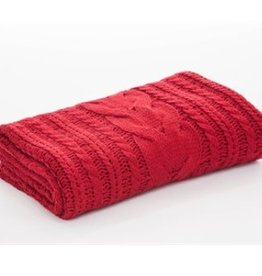 """Jeté tricot rouge Candy 50"""" X 60"""""""