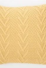 """Coussin européen Atelier tricot jaune 24"""" X 24"""""""