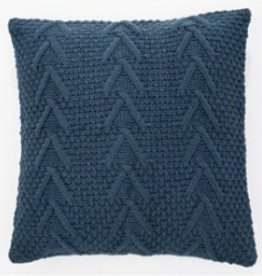 """Coussin tricot Atelier marine 18"""" X 18"""""""
