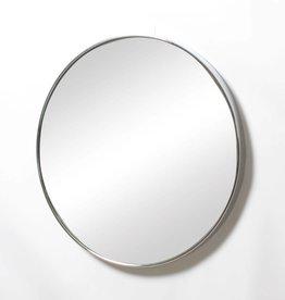 """Miroir rond chromé 24"""""""