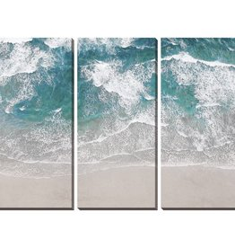 "Toile sable et vague SURFING AERIAL (Set de 3) 22"" X 48"""