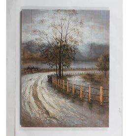 """Peinture Chemin vers le Lac 36"""" x 48"""""""