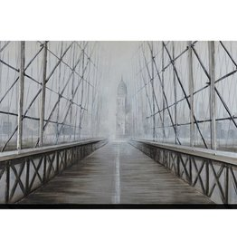 """Toile pont grillage INTO THE FOG 40"""" X 60"""""""