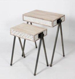Table d'appoint bois Blanc petite