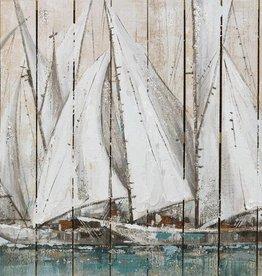 """Cadre voilier sur bois 24"""" x 48"""""""